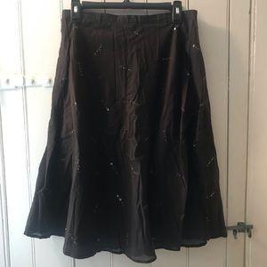 NY&Co Brown Midi Skirt